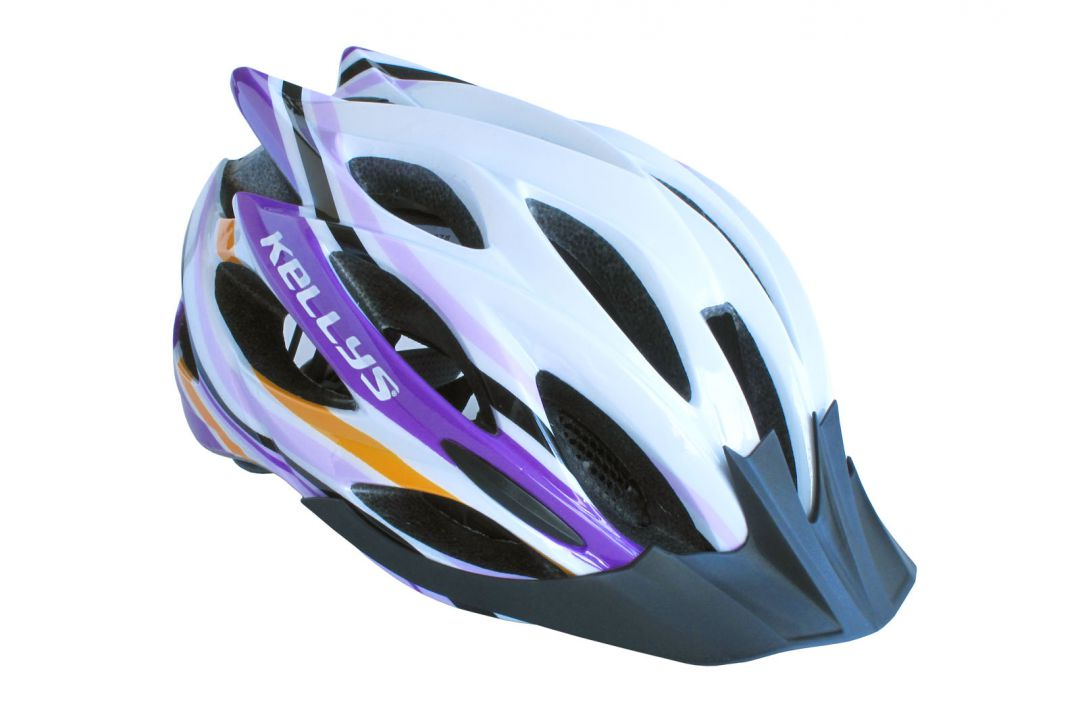 Prilba Dynamic white-alpine purple S/M
