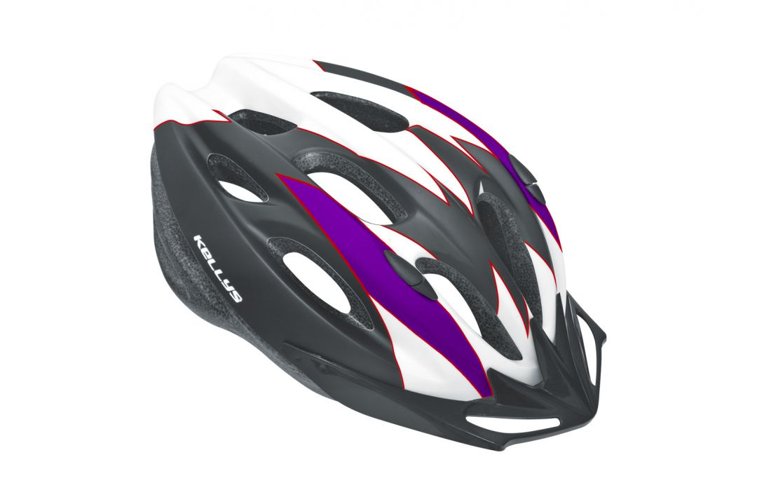 Prilba BLAZE white-purple M/L matt